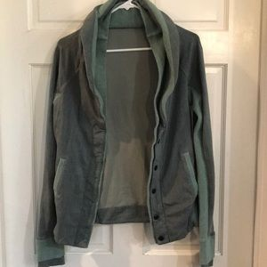 Green Woman's Lululemon Button Down Jacket